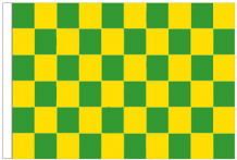 Green And Yellow Check 5' x 3' Larger Sleeved Flag